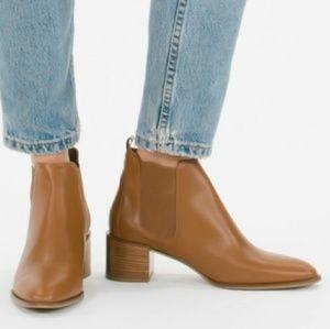 Everlane NWOB Cognac The Heel Ankle Boot